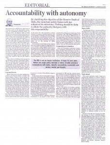 AN ARTICLE BY DR. C RANGARAJAN ON